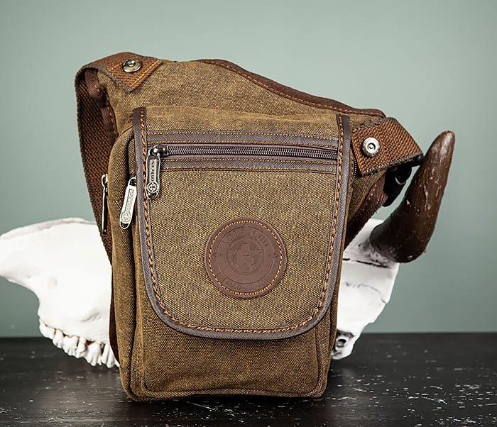 BAG508-2 Небольшая набедренная мужская сумка из ткани