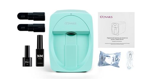 Принтер для ногтей O2Nails M1 Pro Mint (мятный, цвет Тиффани)