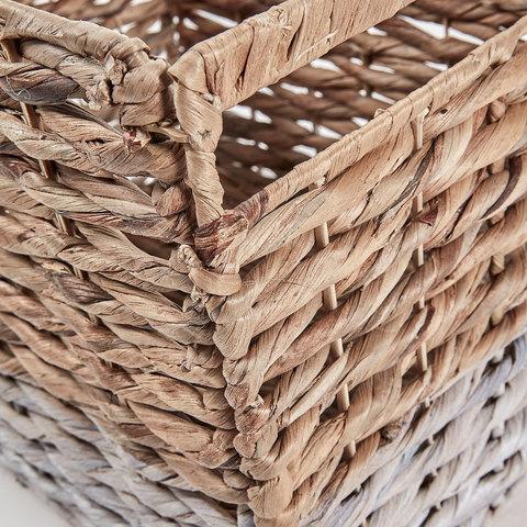 Плетеная корзина Woody натуральный/белый