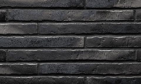 Stroeher - 453 silber-schwarz, Riegel 50, сверхдлинная, 490x40x14 - Клинкерная плитка для фасада и внутренней отделки