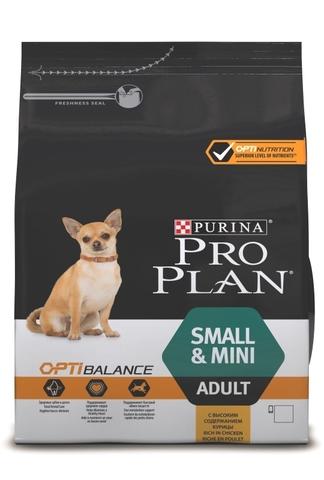 Small & Mini Adult Optibalance - для взрослых собак мелких и карликовых пород с курицей