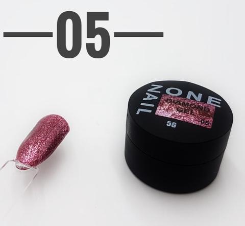 Гель-шиммер ONENAIL Diamond Gel 05 5г