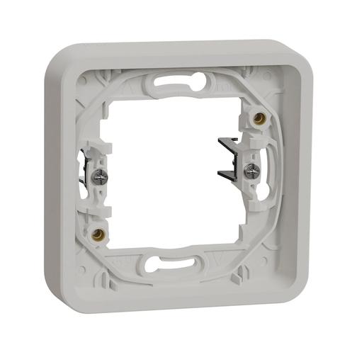 Рамка на 1 пост, с распорными лапками. Цвет Белый. Schneider Electric(Шнайдер электрик). Mureva styl(Мурева стайл). MUR39108