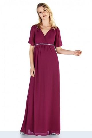 Платье для беременных 10472 бордовый