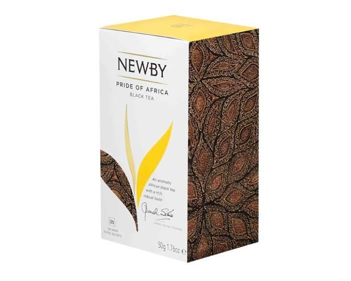 Чай черный в пакетиках Newby Pride of Africa, 25 пак/уп