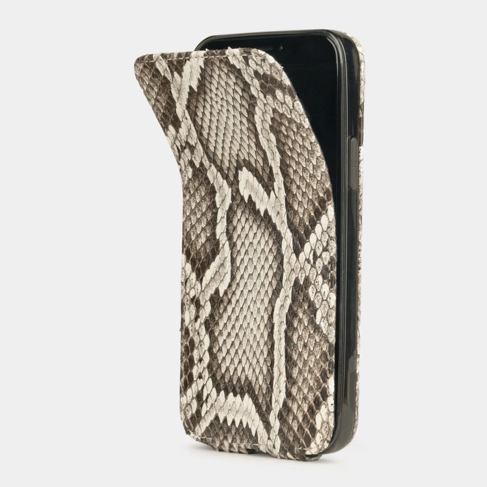 Чехол для iPhone 12/12Pro из натуральной кожи питона, цвета Natur