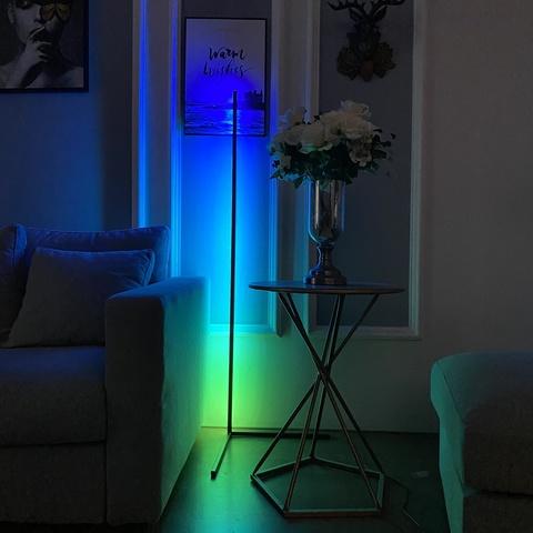 Напольный светодиодный светильник RGB LP-520, черный