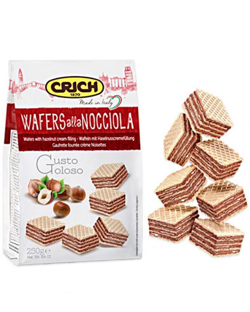 Вафли Crich с орехово-кремовой начинкой, 250 гр.