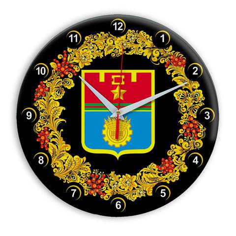 Часы в стиле Хохлома сувенирные Волгоград 03
