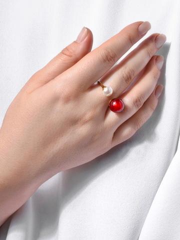 Кольцо Carlotta красное