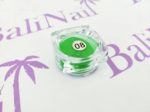 Термо-пигмент для дизайна ногтей (зеленый) #08