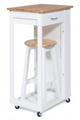 Стол передвижной кухонный с табуретом (mod. JWPE-120802) — натуральный