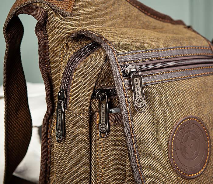 BAG508-2 Небольшая набедренная мужская сумка из ткани фото 03