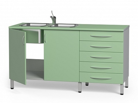 Комплект медицинской мебели БТ-24+БТ-02/5-150 - фото