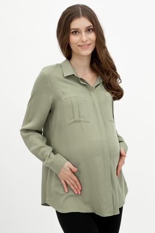 Блузка для беременных 11560 зеленый