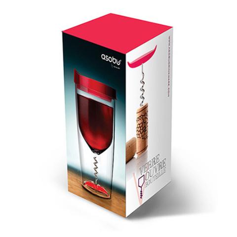 Бокал Asobu Vino opener (0,35 литра), черный