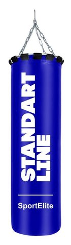 Мешок боксерский SportElite STANDART LINE 120см, d-40, 55кг, синий (37653)