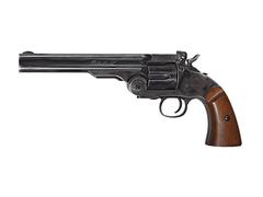 Пневматический револьвер ASG Schofield-6 aging black пулевой 4,5