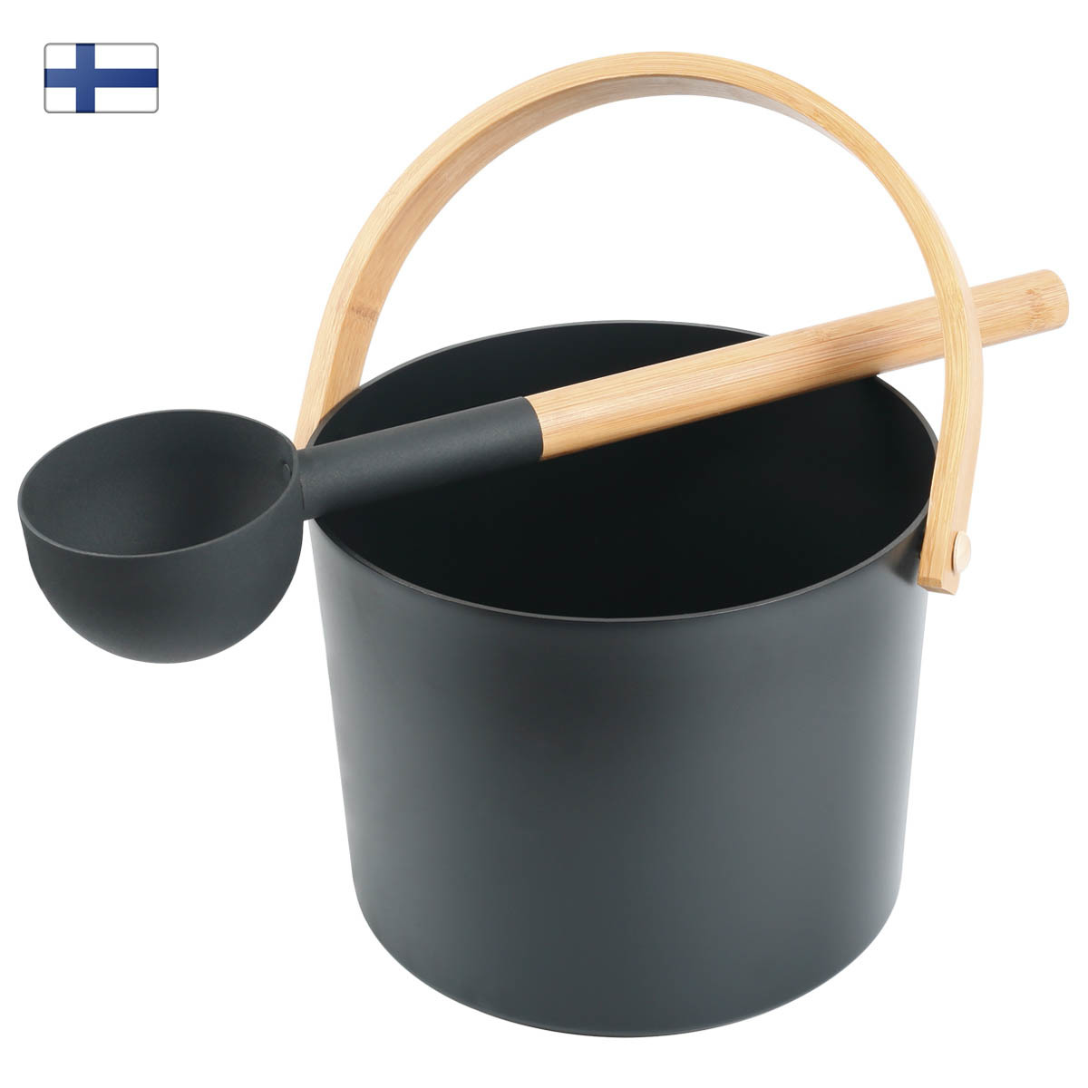 Набор KOLO 2 - бадья с ковшом (черный)