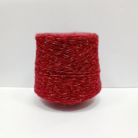 Бобинная пряжа с пайетками Suave. Цвет Бордовый. Цена указана за 50г