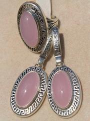 Дебора (кольцо + серьги из серебра)