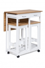 Стол кухонный  с табуретом (mod. JWPE-120809) — натуральный