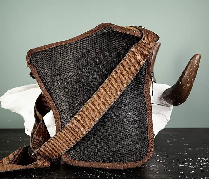 BAG508-2 Небольшая набедренная мужская сумка из ткани фото 05