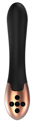 Черный вибратор Posh с функцией нагрева - 20 см.