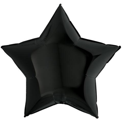 Воздушный шар звезда большая, Черная, 91 см