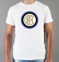 Футболка с принтом FC Internazionale (ФК Интернационале) белая 0010