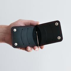 Затиск для грошей Ultra на кнопках, натуральна шкіра, ручна робота