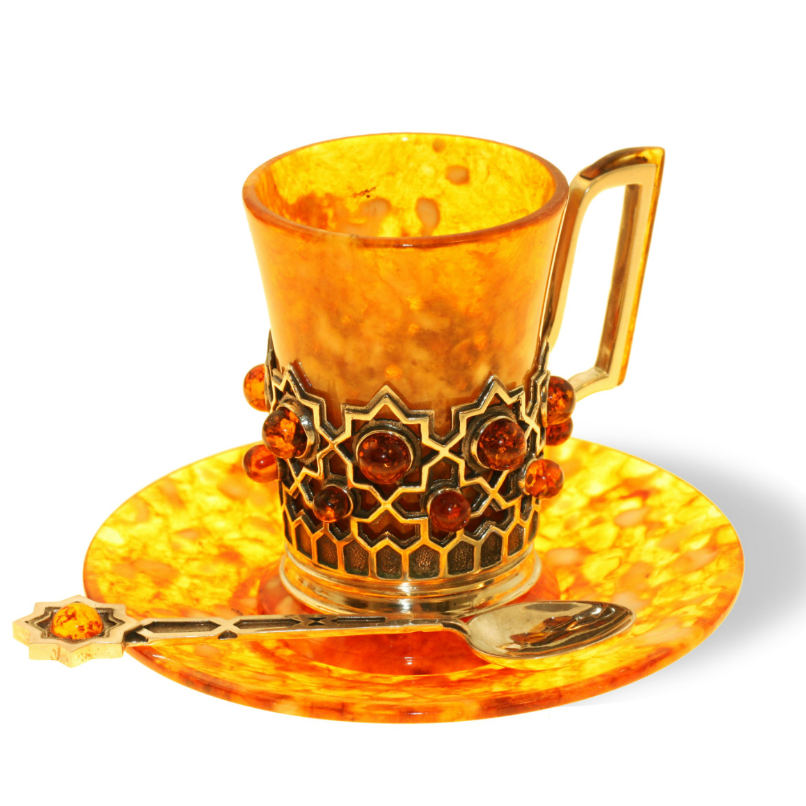 Кофейная чашка «Визирь» из янтаря