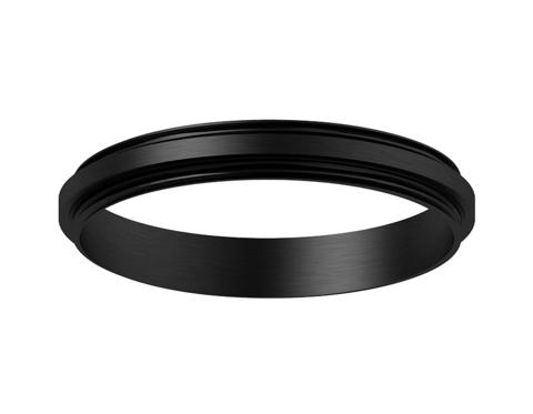 Коннектор декоративный для соединения корпуса светильника D70+D70mm A2071 PBK черный полированный D70*H9mm Out1.5mm