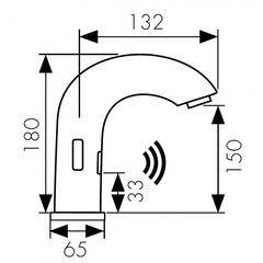 Сенсорный смеситель KAISER Sensor 38421 для раковины (питание 220В) схема
