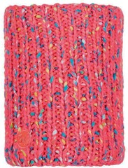 Шарф-труба вязаный с флисом Buff Neckwarmer Knitted Polar Yssik Pink Fluor