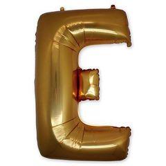 """Буква """"Е"""" золото 102 см"""