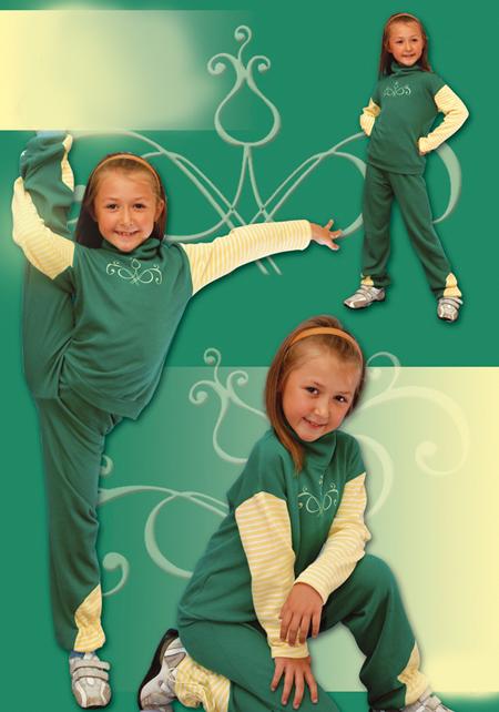 Выкройка спортивного костюма для девочки