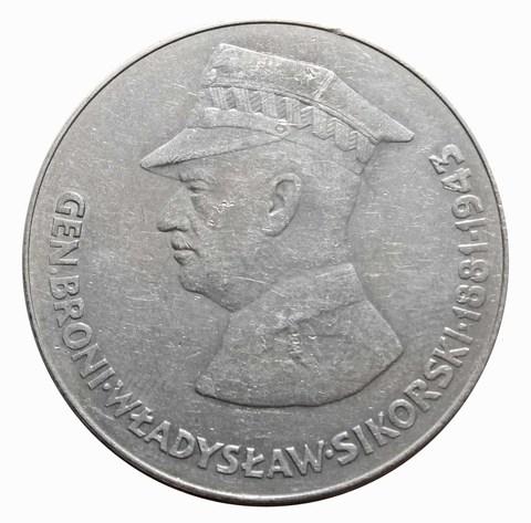 """50 злотых """"Владислав Сикорский"""" 1981 год"""