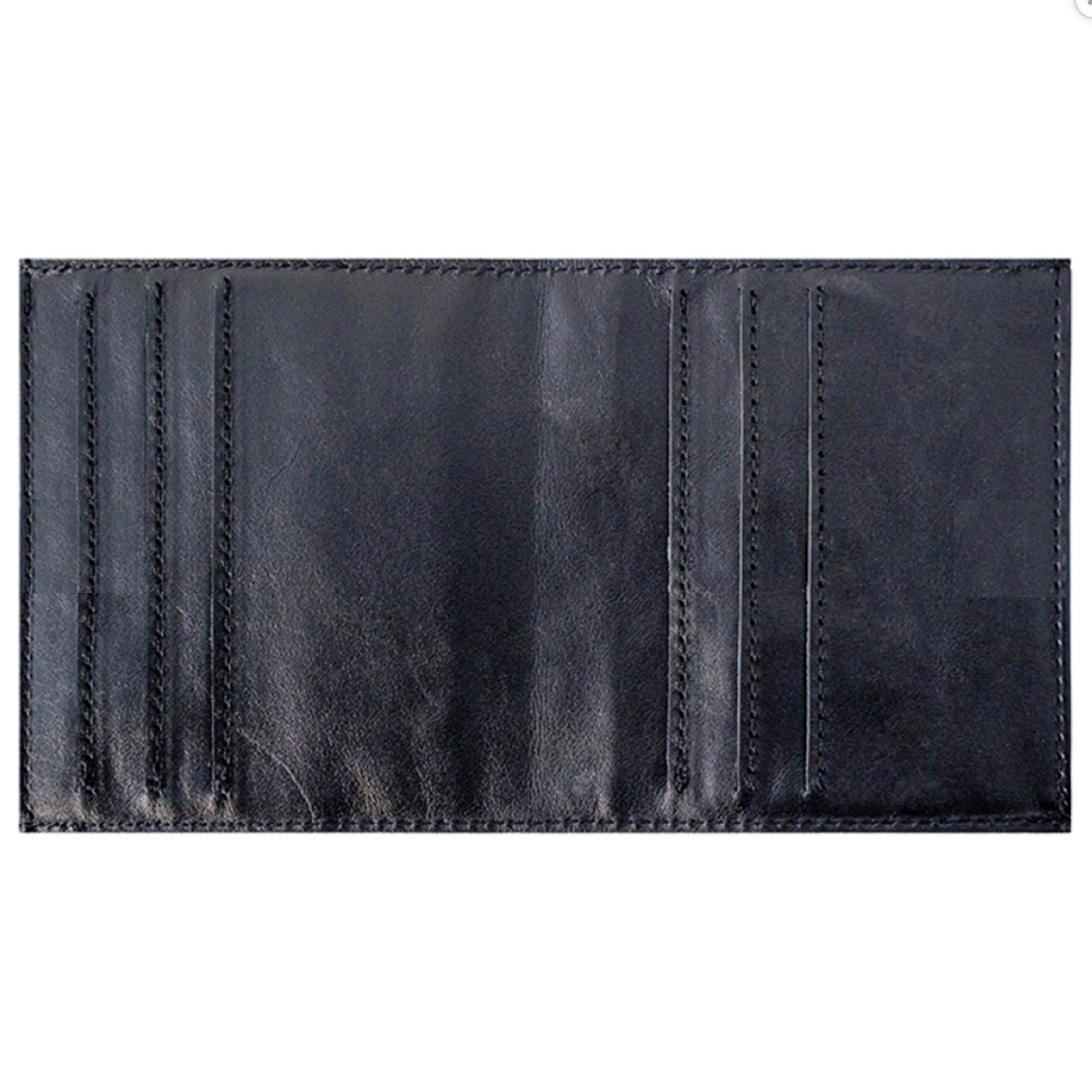 Футляр для визитных карточек «Лавры». Цвет черный