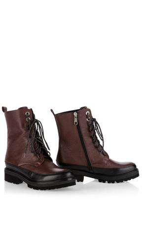 Marc Cain Ботинки кожаные высокие на молнии и шнуровке