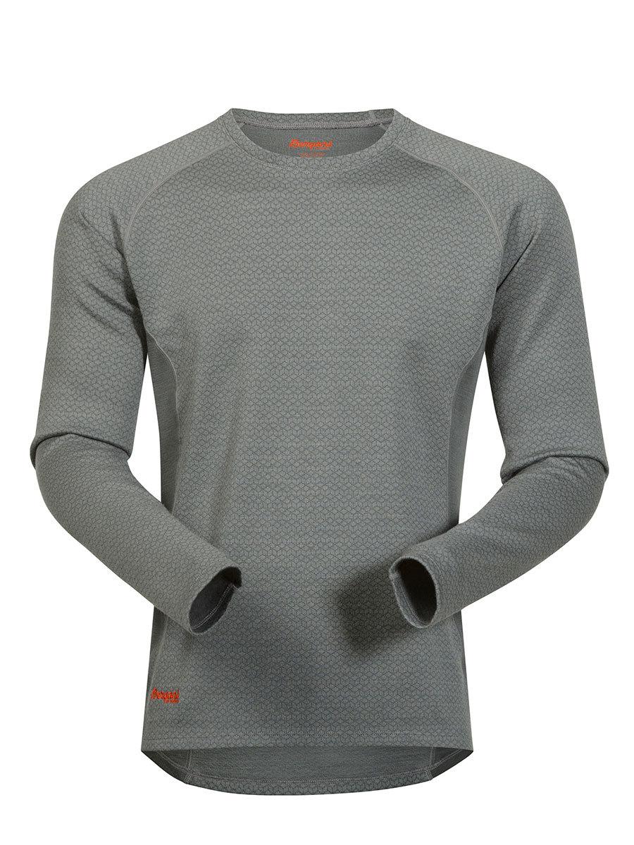 Bergans термобелье футболка 8960 Snoull Shirt Solid Light Grey