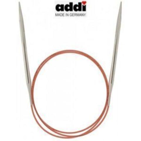 Спицы Addi круговые с удлиненным кончиком для тонкой пряжи 50 см, 6.5 мм
