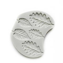 0683 Молд силиконовый. Листья (дуб, береза)