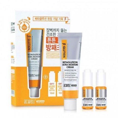 Набор Для Глубокого Увлажнения С Бета-Глюканом ACWELL Glution Ultra Moisture Cream