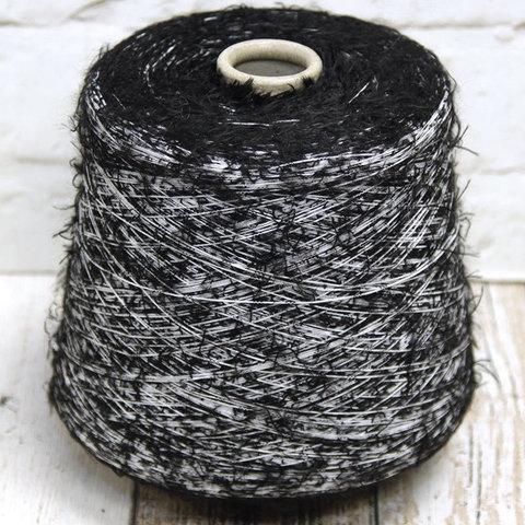 Фасонная травка черно-белая