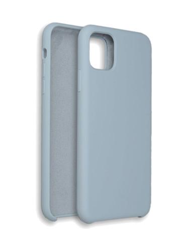 Чехол для iPhone 11 ProMax Софт тач мягкий эффект | микрофибра светло-серый