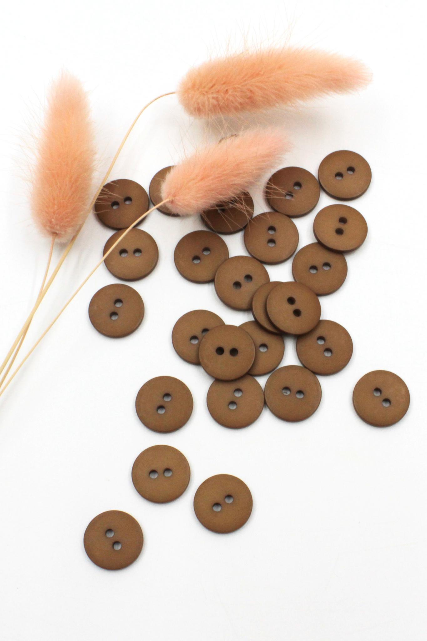 Пуговица,пластик,лесной орех,14 мм