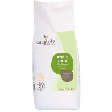 Зелёная глина крупноизмельчённая - обёртывание для тела Argiletz, 1 кг
