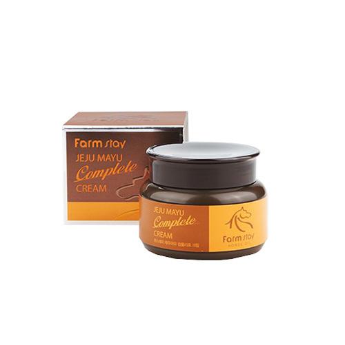 Крем с лошадиным маслом для сухой кожи FarmStay Jeju Mayu Complete Cream 100мл