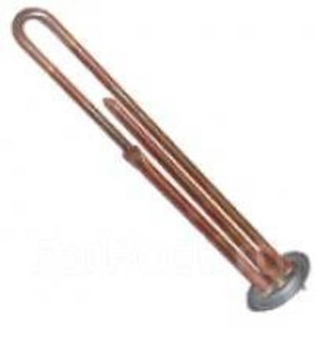 Нагревательный элемент RF64 мощность 1300 Вт, резьба под анод M4, длина 250 мм, прижимной фланец 64 мм